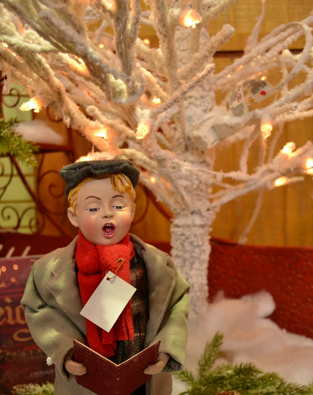 sleigh ride caroler tree